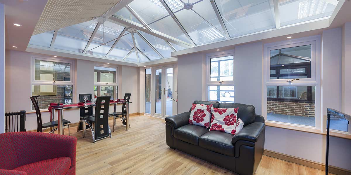 Modern Orangery with Glass Roof